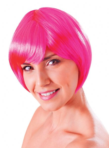 Ladies Flirty Flick Neon Wig Sexy Adult Role Play Fancy Dress
